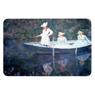 In the Norvegienne Boat at Giverny Rectangular Photo Magnet