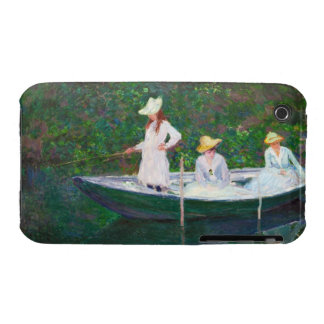 In the Norwegian Boat at Giverny Claude Monet iPhone 3 Cases