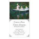 In the Norwegian Boat at Giverny Claude Monet Double-Sided Standard Business Cards (Pack Of 100)
