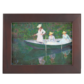 In the Norwegian Boat at Giverny Claude Monet Memory Box
