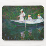 In the Norwegian Boat at Giverny Claude Monet Mouse Pad