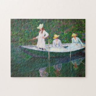 In the Norwegian Boat at Giverny Claude Monet Puzzle