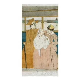 In the Omnibus by Mary Cassatt Card