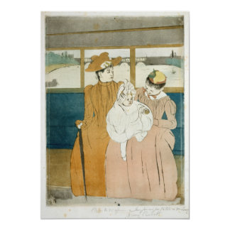 In the Omnibus by Mary Cassatt 5x7 Paper Invitation Card