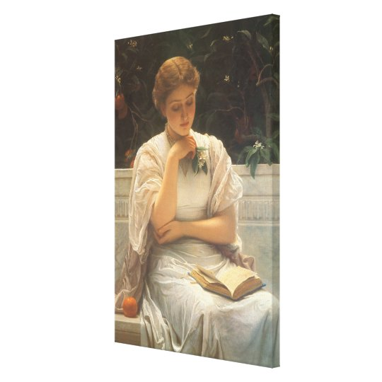 In the Orangery by Charles Edward Perugini Canvas Print