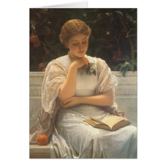 In the Orangery by Charles Edward Perugini Greeting Card