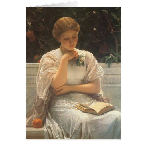 In the Orangery by Charles Edward Perugini Card