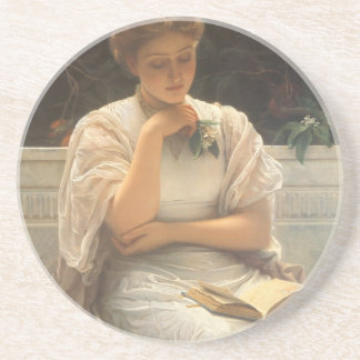 In the Orangery by Charles Edward Perugini Drink Coaster