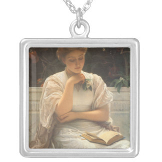 In the Orangery by Charles Edward Perugini Necklace
