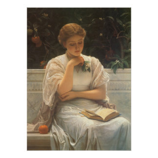 In the Orangery by Charles Edward Perugini Poster