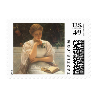 In the Orangery by Charles Edward Perugini Stamp