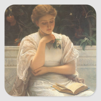 In the Orangery by Charles Edward Perugini Square Sticker