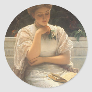In the Orangery by Charles Edward Perugini Classic Round Sticker