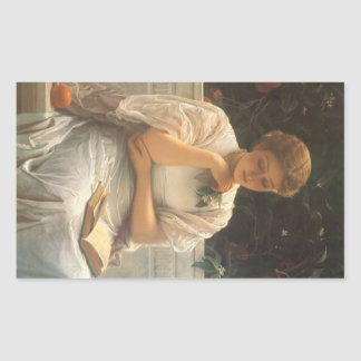 In the Orangery by Charles Edward Perugini Rectangular Sticker