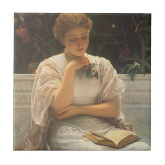 In the Orangery by Charles Edward Perugini Tile
