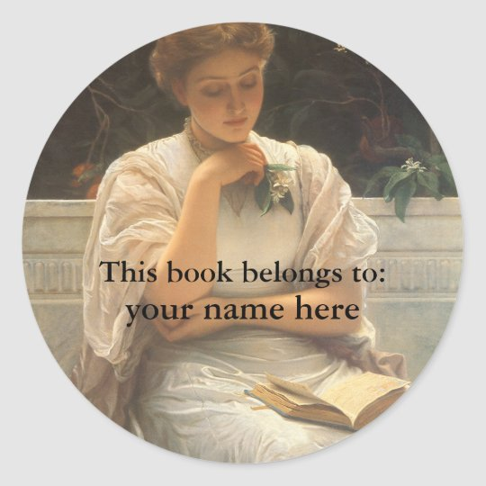In the Orangery by Perugini Bookplate