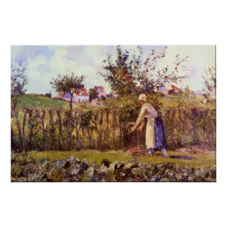 In the Orchard by Camille Pissarro Posters