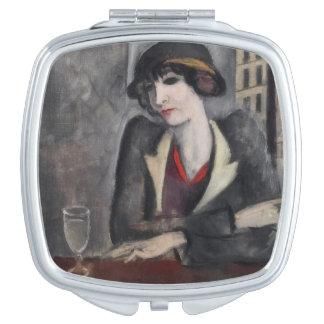 In The Outskirts of Paris Vintage Vanity Mirror