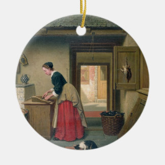 In the Pantry, 1868 (oil on panel) Ceramic Ornament