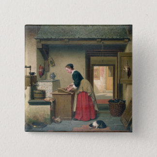 In the Pantry, 1868 (oil on panel) Pinback Button