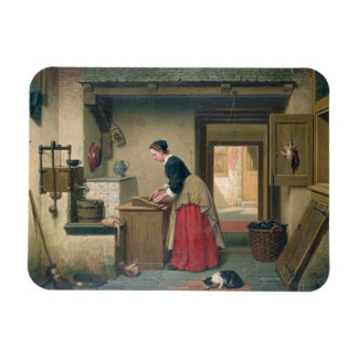 In the Pantry, 1868 (oil on panel) Rectangular Photo Magnet