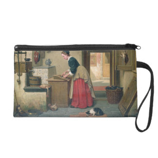 In the Pantry, 1868 (oil on panel) Wristlet Purse