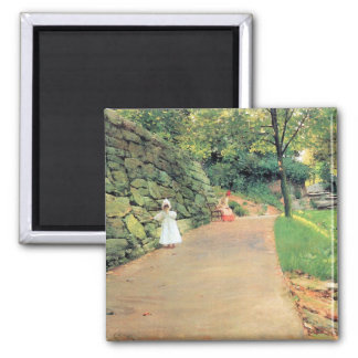In the Park - A byway by William Chase Magnet