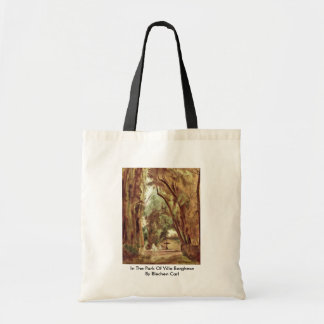 In The Park Of Villa Borghese By Blechen Carl Budget Tote Bag