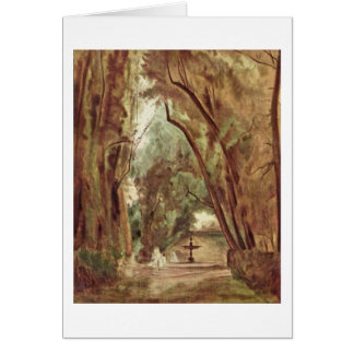 In The Park Of Villa Borghese By Carl Sheets Greeting Card