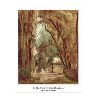 In The Park Of Villa Borghese By Carl Sheets Postcard