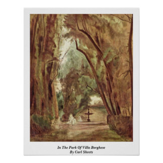 In The Park Of Villa Borghese By Carl Sheets Poster