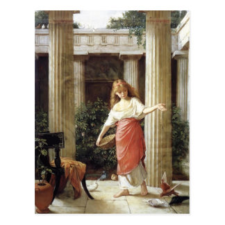 In the Peristyle by John William Waterhouse Postcard
