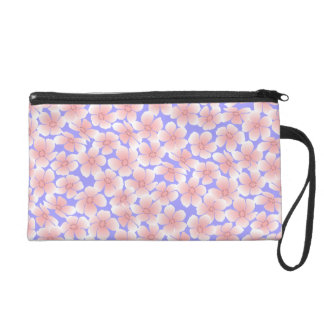 In The Pink - Abstract Flowers 4 Wristlet Purse