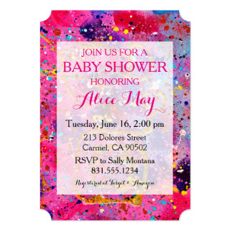 In the Pink Baby Shower Invitation