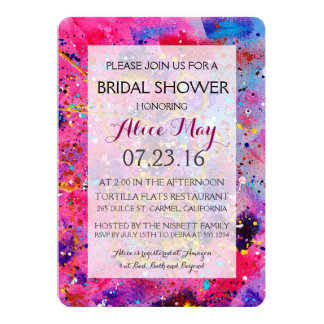 In the Pink Bridal Shower Invitation
