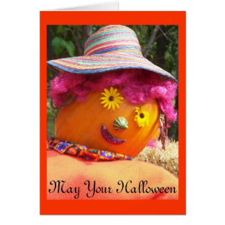 In The Pink Halloween Card