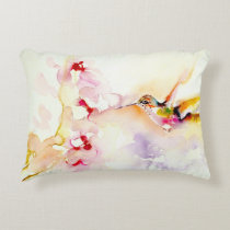 """""""In the Pink"""" Hummingbird Print Accent Pillow"""