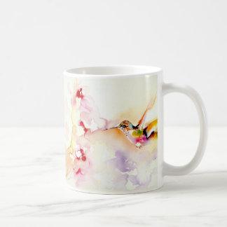"""""""In the Pink"""" Hummingbird Print Coffee Mug"""