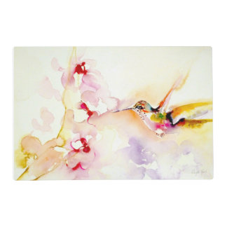 """""""In the Pink"""" Hummingbird Print Placemat"""