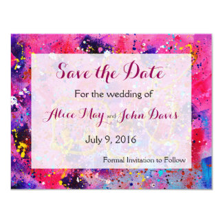 In the pink Save the Date Card