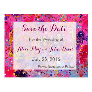 In the pink Save the Date PostCard