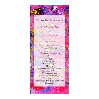 In the pink Wedding Ceremony Program