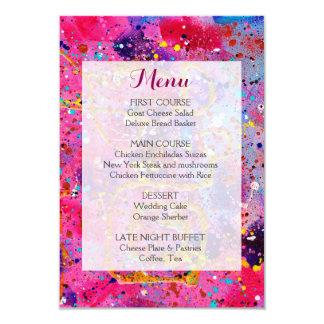 In the Pink Wedding Menu Card