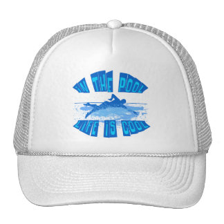 IN THE POOL, LIFE IS COOL TRUCKER HAT