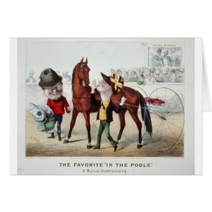 In The Pools 1876 Card
