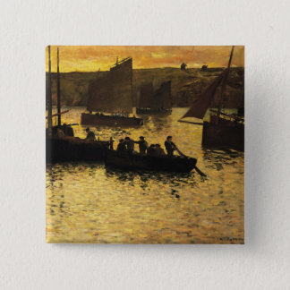 In the Port, 1895 Pinback Button