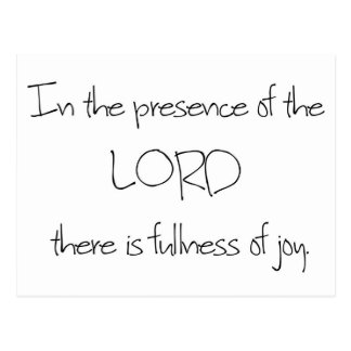 In the presence of the LORD Postcard