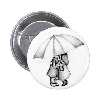 in the rain 2 inch round button