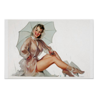 In the Rain Pin Up Poster