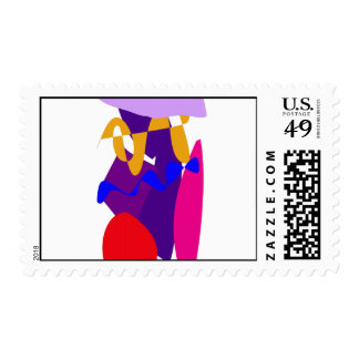 In the Rain Postage Stamp